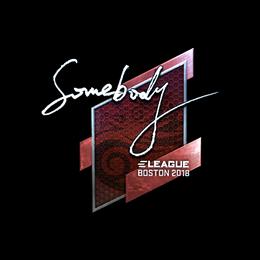 somebody (Foil) | Boston 2018