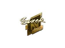 Skin Sticker | SIXER (Gold) | Boston 2018