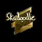 Sticker | Skadoodle (Gold) | Boston 2018