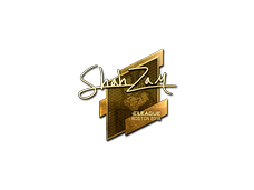 Skin Sticker | ShahZaM (Gold) | Boston 2018