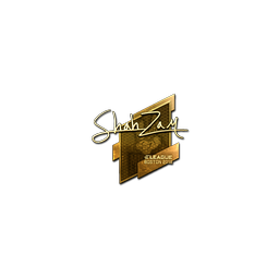 Sticker | ShahZaM (Gold) | Boston 2018