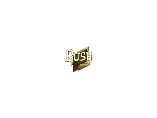 Sticker | RUSH (Gold) | Boston 2018