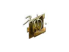 Skin Sticker | RpK (Gold) | Boston 2018