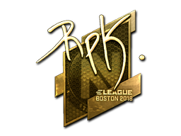 Sticker | RpK (Gold) | Boston 2018