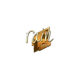 Sticker | rain (Gold) | Boston 2018