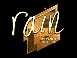 Sticker | rain (Gold) | Boston 2018