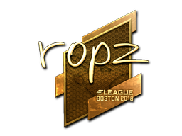 Sticker | ropz (Gold) | Boston 2018
