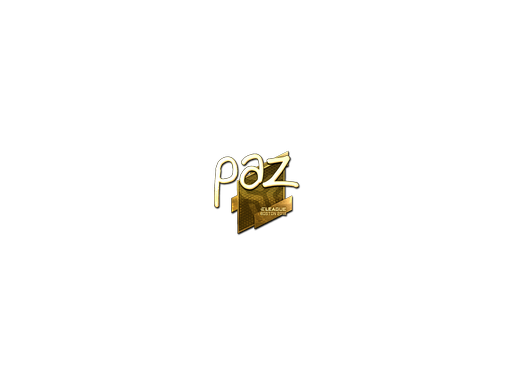 Sticker | paz (Gold) | Boston 2018