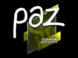 paz | Boston 2018