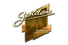 Sticker | Golden (Gold) | Boston 2018
