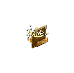 Sticker | gla1ve (Gold) | Boston 2018