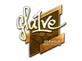 Skin Sticker | gla1ve (Gold) | Boston 2018