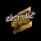 Sticker | electronic (Gold) | Boston 2018
