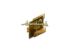 Skin Sticker | devoduvek (Gold) | Boston 2018