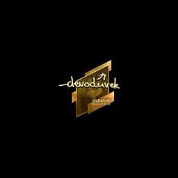 Sticker | devoduvek (Gold) | Boston 2018
