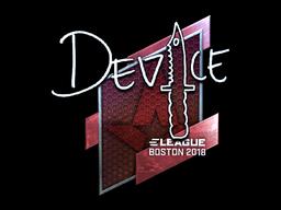 Sticker | device (Foil) | Boston 2018