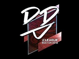 Sticker | DD (Foil) | Boston 2018