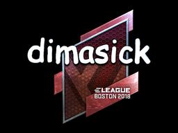 Sticker | dimasick (Foil) | Boston 2018