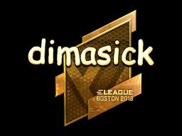 Sticker | dimasick (Gold) | Boston 2018