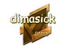 Skin Sticker | dimasick (Gold) | Boston 2018