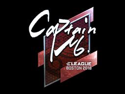 Sticker | captainMo (Foil) | Boston 2018