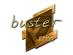 Sticker | buster (Gold) | Boston 2018