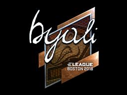 Наклейка | byali (металлическая) | Бостон 2018