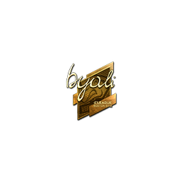 Sticker   byali (Gold)   Boston 2018