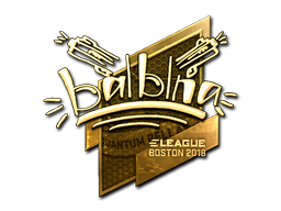 Sticker | balblna (Gold) | Boston 2018