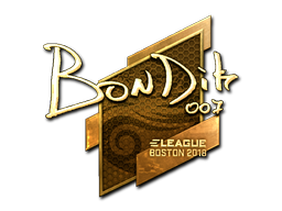 Sticker | bondik (Gold) | Boston 2018