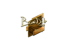 Skin Sticker | bondik (Gold) | Boston 2018