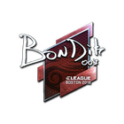 Sticker | bondik (Foil) | Boston 2018