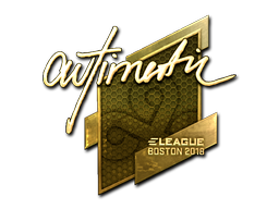 Sticker | autimatic (Gold) | Boston 2018