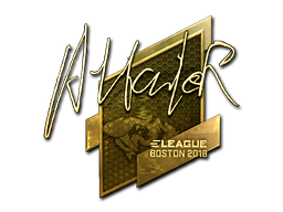 Sticker | Attacker (Gold) | Boston 2018