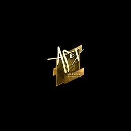 free csgo skin Sticker | apEX (Gold) | Boston 2018