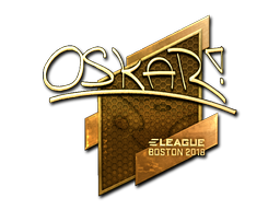 Sticker | oskar (Gold) | Boston 2018