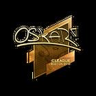 Sticker   oskar (Gold)   Boston 2018