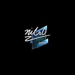 Sticker   nitr0 (Foil)   Boston 2018