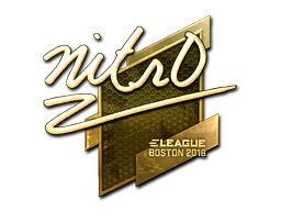 Sticker | nitr0 (Gold) | Boston 2018