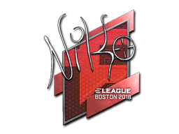 Sticker | NiKo | Boston 2018