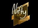 Sticker | Nifty (Gold) | Boston 2018