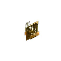 Sticker | Nifty (Gold) | Boston 2018
