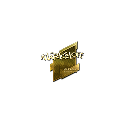 Sticker | markeloff (Gold) | Boston 2018