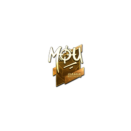 Sticker | mou (Gold) | Boston 2018