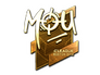 Skin Sticker | mou (Gold) | Boston 2018