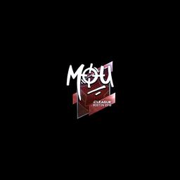 Sticker   mou (Foil)   Boston 2018