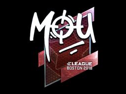 Sticker | mou (Foil) | Boston 2018