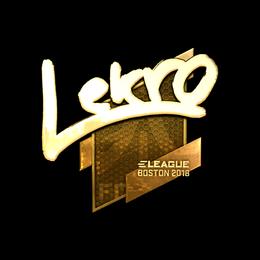 Lekr0 (Gold) | Boston 2018