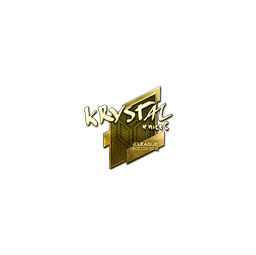Sticker | kRYSTAL (Gold) | Boston 2018