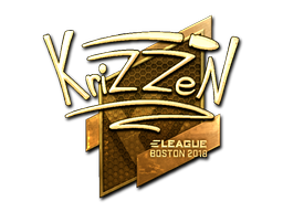 Sticker | KrizzeN (Gold) | Boston 2018